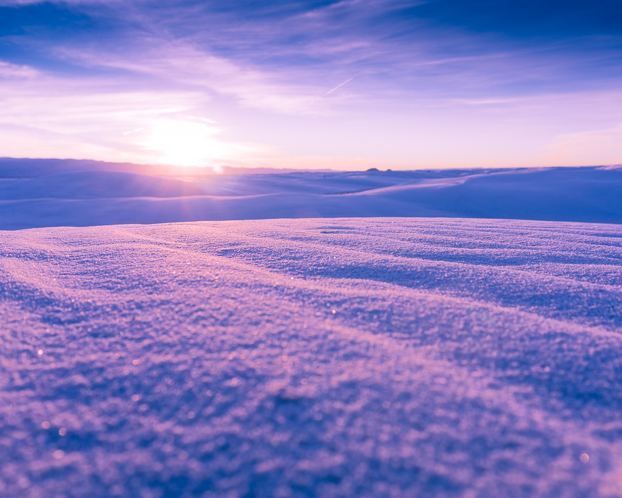 White Sands pink and purple sunrise