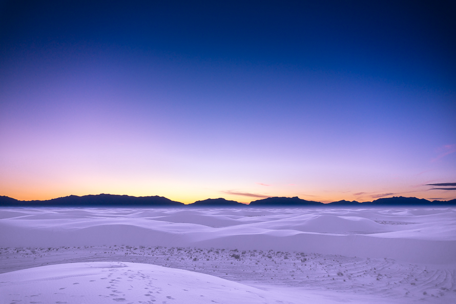 White Sands purple sunset
