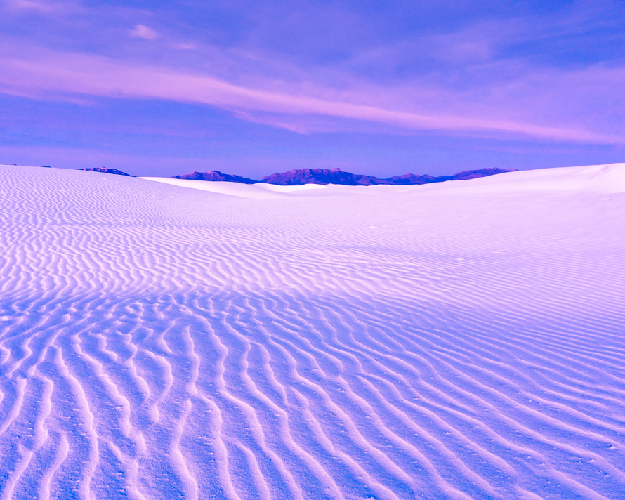 White Sands pink sunrise