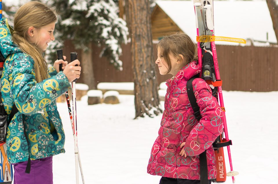 Lightweight Ski Carry For Hike To Terrain And Kids